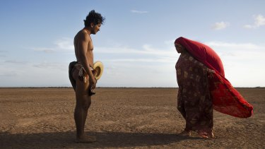 Rapayet (Jose Acosta)  and Zaida (Natalia Reyes) in Birds of Passage.