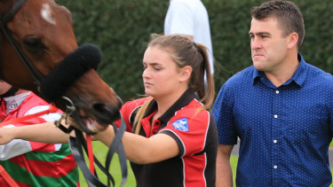Hard worker: Trainer Scott Singleton has a great chance at Hawkesbury with Stock Up.