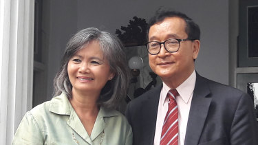 Exiled Cambodian MPs Mu Sochua and Sam Rainsy travelled to Jakarta in April to step up pressure on regional governments over the conduct of Prime Minister Hun Sen.
