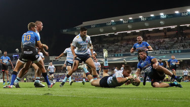 Alex Newsome's second-half try showed encouraging signs for the Waratahs.