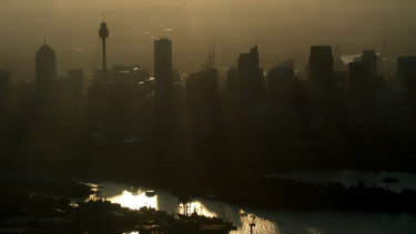 A pall of smoke hangs over Sydney.