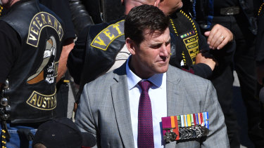 Ben Roberts-Smith at Remembrance Day commemorations at the Australian War Memorial in 2018.