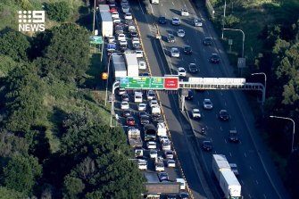 Traffic at Mascot after a crash in the Airport Tunnel.