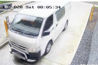 Detectives last month released CCTV vision of a 2016 white HiAce van that entered an underground car park just before John Ibrahim's nephew Michael Haddad was violently abducted.