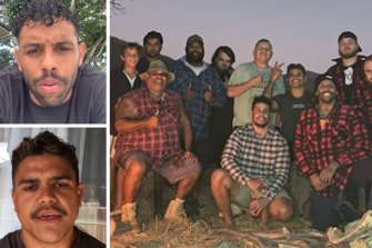 "Josh Addo-Carr and Latrell Mitchell posted apologies on Instagram, hours after the NRL lashed their decision to go on a camping trip with a group of men as ""unacceptable""."