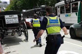 Police race to stop James Gargasoulas on the day of the massacre.