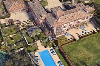 Satellite image of the Montecito home of Prince Harry and Meghan, Duchess of Sussex