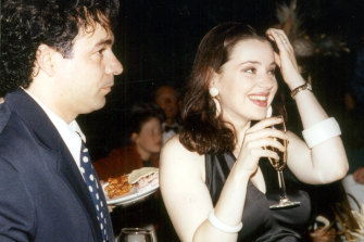 Ralph Carr in 1993 with his former wife, the singer Tina Arena.