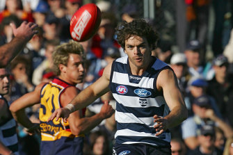 Matthew Scarlett in action for the Cats.