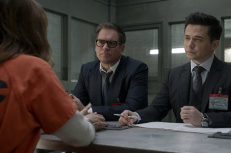 Michael Weatherly, centre, in Bull.