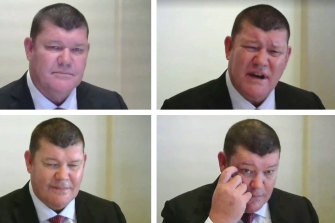 James Packer at the Crown inquiry last Tuesday.