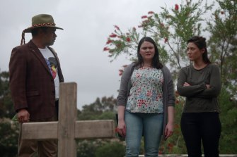 The Heights featuringKelton Pell (Uncle Max), Shari Sebbens (Leonie), Claire Gazzo (Erika).