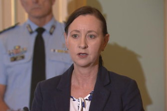 Queensland Health Minister Yvette D'Ath says the state could run out of Pfizer doses in eight days.