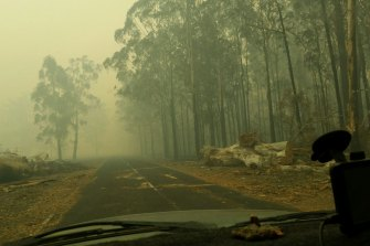 'Prisoners in our own town': The fire-ravaged community where food is running low