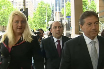 'Wanted by people like Tony': Nicola Gobbo (left) with Tony Mokbel (centre) and Con Heliotis (right) pictured outside court in 2004.