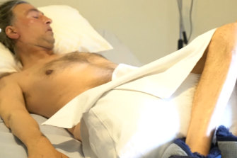 Chris Karadaglis is paralysed from the neck down.