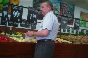 Tony Madafferi in his Noble Park fruit shop.
