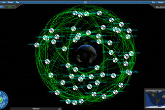The world saw a near miss in low-Earth orbit this week. Saber Astronautics' visualisation of low-Earth orbit.