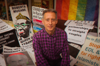 """Peter Tatchell says: """"I'm just driven by my passion, which is that I love other people."""""""