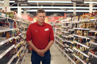 """""""It's kicked into another gear"""": Coles store manager Troy Kennedy."""