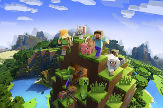 Minecraft is a great virtual playground that kids and adults can explore together online.