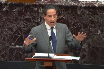 House impeachment manager Jamie Raskin opens proceedings.