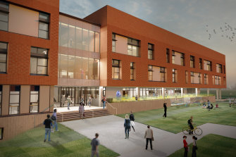 A concept image for the second stage of the Bob Hawke College development.