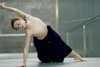 Benedicte Bemet in the digital production of <i>Capriccio</i>, which was inspired by the challenge of her major injury.