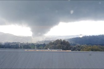 The tornado was spotted close to Bathurst on Thursday.