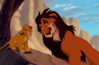 The evil character of Scar in the Lion King.