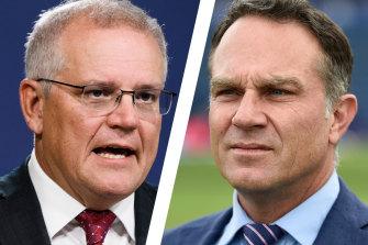 Prime Minister Scott Morrison came under fire from Michael Slater.