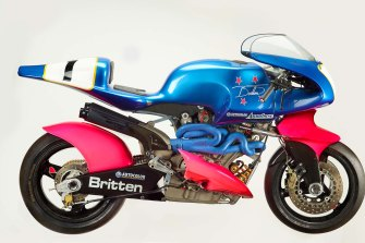 The  Britten V1000 motorcycle, 1991.