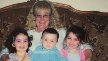 Grandmother Karen Nettleton with, from left, Hoda, Abdullah and Zaynab Sharrouf.