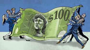 Cheque mate: Investors hit back in executive pay dispute.  Illustration: Joe Benke