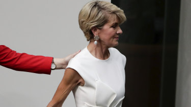 Former foreign minister Julie Bishop departs the House of Representatives after announcing her retirement.