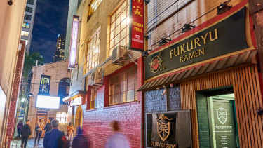 22-26 Corrs Lane is leased to Fukuryu Ramen, Sichuan House and GR8 Karoake Bar.