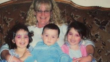 Grandmother Karen Nettleton with, from left, Hoda, Abdullah and Zaynab Sharrouf.