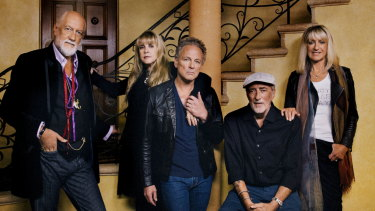 Fleetwood Mac: (From left) Mick Fleetwood, Stevie Nicks, Lindsey Buckingham, John McVie and Christine McVie.