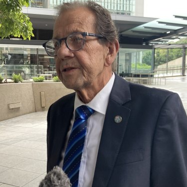 Martin Turpin after giving evidence at the Whiskey Au Go Go inquest in Brisbane on Friday.