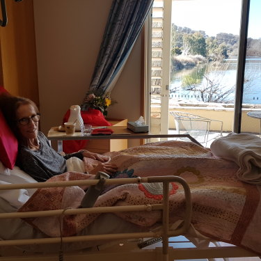 Lisa on the day she arrived at the hospice in August 2018.