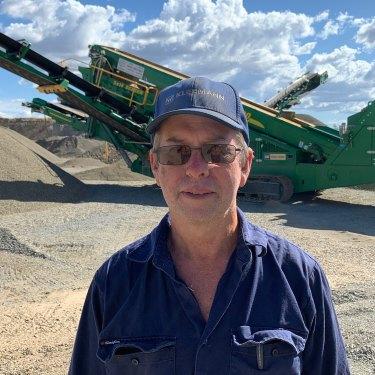 Central Highlands quarry owner Dave Reddiex.
