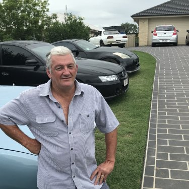 Car enthusiast Alan Marshall at his home in Grantham.