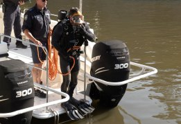 A number of items were found in the search of the Parramatta River, but police would not specify what they were.