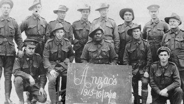 Gunners who probably served at Gallipoli including Indigenous solider Alfred Jackson Coombs.
