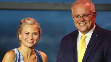 The image of Scott Morrison with Australian of the Year Grace Tame inspired Brittany Higgins to come forward.