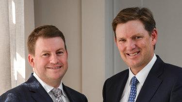 Evans Dixon's Alan Dixon with company chairman David Evans.