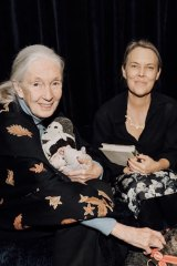 Roet with Jane Goodall.