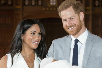 The Duke and Duchess of Sussex with their son, Archie. Prince Harry promised to be a hands-on dad.