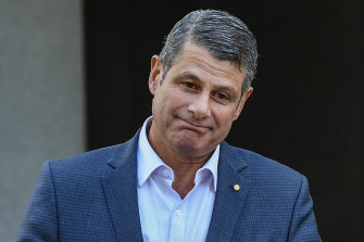 """Former state premier Steve Bracks addresses the media on Wednesday. He will help produce a """"scoping report"""" with a blueprint for reforming the party."""