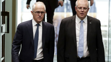 Malcolm Turnbull and Scott Morrison.